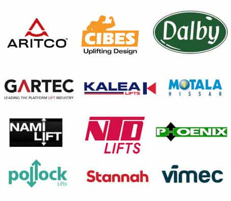 the lifts we service brand logos